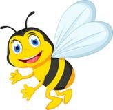 蜂动画片飞行 免版税图库摄影
