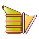 蜂吸烟者象,动画片样式 免版税库存照片