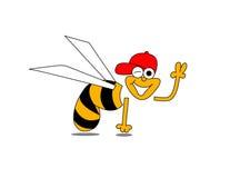 蜂和平标志 免版税库存图片
