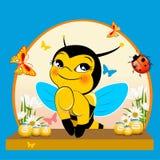蜂和蜂蜜 皇族释放例证