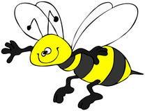 蜂微笑 库存图片