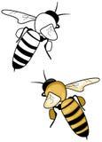 蜂徽标 库存图片