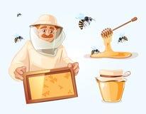 蜂房传染媒介例证 免版税库存照片