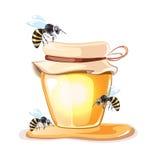 蜂房传染媒介例证 免版税库存图片