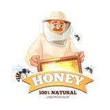 蜂房传染媒介象征 免版税图库摄影