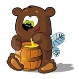蜂熊 库存图片