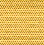蜂窝或蜂蜂蜜梳子无缝的纹理 免版税库存照片