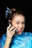 蜂窝电话客户 免版税图库摄影