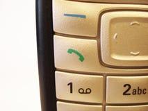 蜂窝电话接近的电话 免版税库存照片