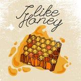 蜂箱和蜂蜜 免版税库存图片