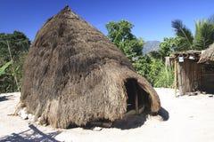 蜂箱在西方timor的村庄附近的boti小屋 免版税库存图片