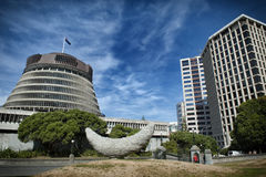 蜂箱,新西兰议会大厦的行政翼 免版税库存照片
