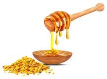 蜂花粉和蜂蜜 库存图片