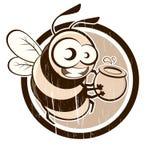蜂葡萄酒 库存照片