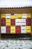 蜂蜂房在冬天 免版税库存图片