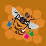 蜂蜂窝桶 免版税库存照片