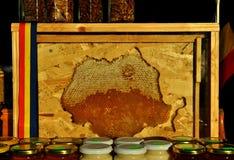 蜂蜜、坚果和种子 库存图片