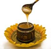 蜂蜜匙子 免版税库存图片