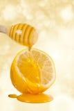 蜂蜜和柠檬 图库摄影