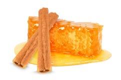 蜂蜜和桂香 库存图片