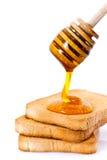 蜂蜜多士 免版税图库摄影
