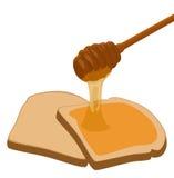 蜂蜜小圆面包 库存图片