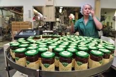 蜂蜜工厂-生产线 图库摄影