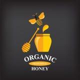 蜂蜜徽章和标签 免版税库存照片