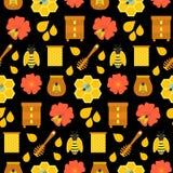 黑蜂蜜无缝的纹理 皇族释放例证