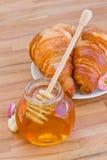 蜂蜜早餐 免版税库存图片