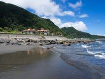 蜂蜜月亮湾海滩在台湾 免版税库存照片