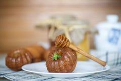 蜂蜜松饼 库存照片