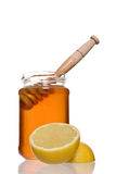 蜂蜜柠檬 免版税图库摄影