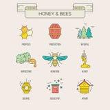 蜂蜜标志 免版税库存图片