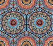 蜂蜜梳子六角形的样式花坛场蓝色桔子 向量例证