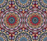 蜂蜜梳子六角形的样式花坛场 皇族释放例证