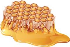 蜂蜜梳子 皇族释放例证