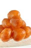 蜂蜜油炸圈饼 免版税库存照片