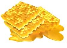 蜂蜜流动 免版税库存图片