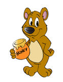 蜂蜜熊 免版税图库摄影