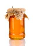 蜂蜜瓶子甜点 库存照片