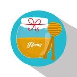 蜂蜜瓶子设计 库存图片