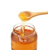 蜂蜜瓶子 免版税库存图片