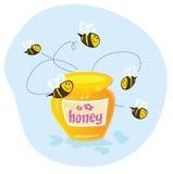 蜂蜜甜点 图库摄影