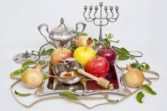 蜂蜜用Rosh的Hashana苹果 库存照片