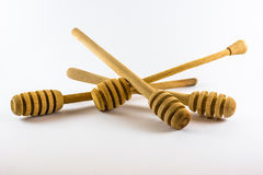蜂蜜的匙子 图库摄影