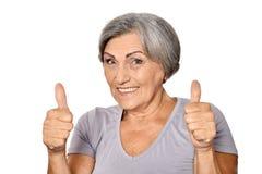 蜂蜜老妇人 免版税图库摄影