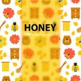 蜂蜜自然产品概念 向量例证