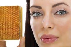 蜂蜜自然自创有机面部面具  库存照片