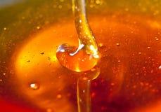 蜂蜜水滴到bowl.JH里 免版税库存照片